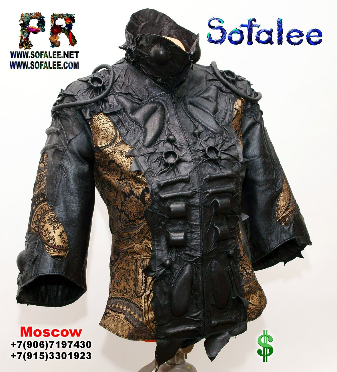 Leather jackets women by sofalee 00006