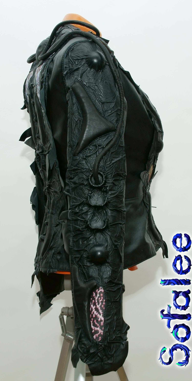 панк куртка из кожи 00