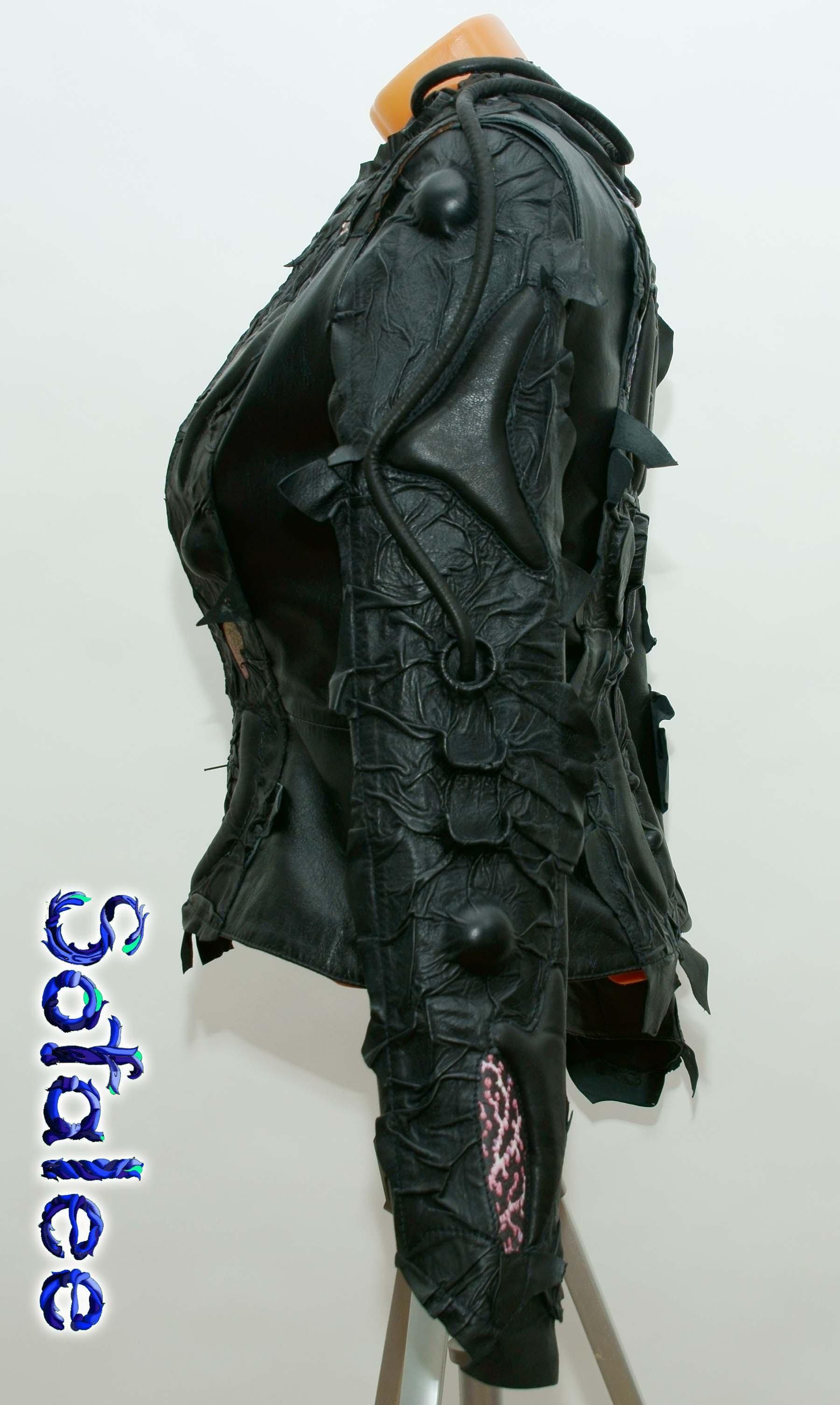 панк куртка из кожи 009