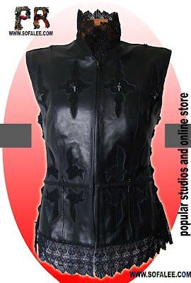 Luxury leather jacket for ladies.