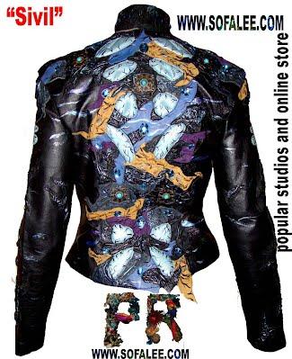 Эксклюзивная модная куртка из кожи