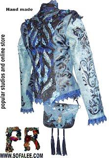 Куртка из кожи с сумкой