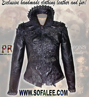 Exclusive ladies jacket of gothic style