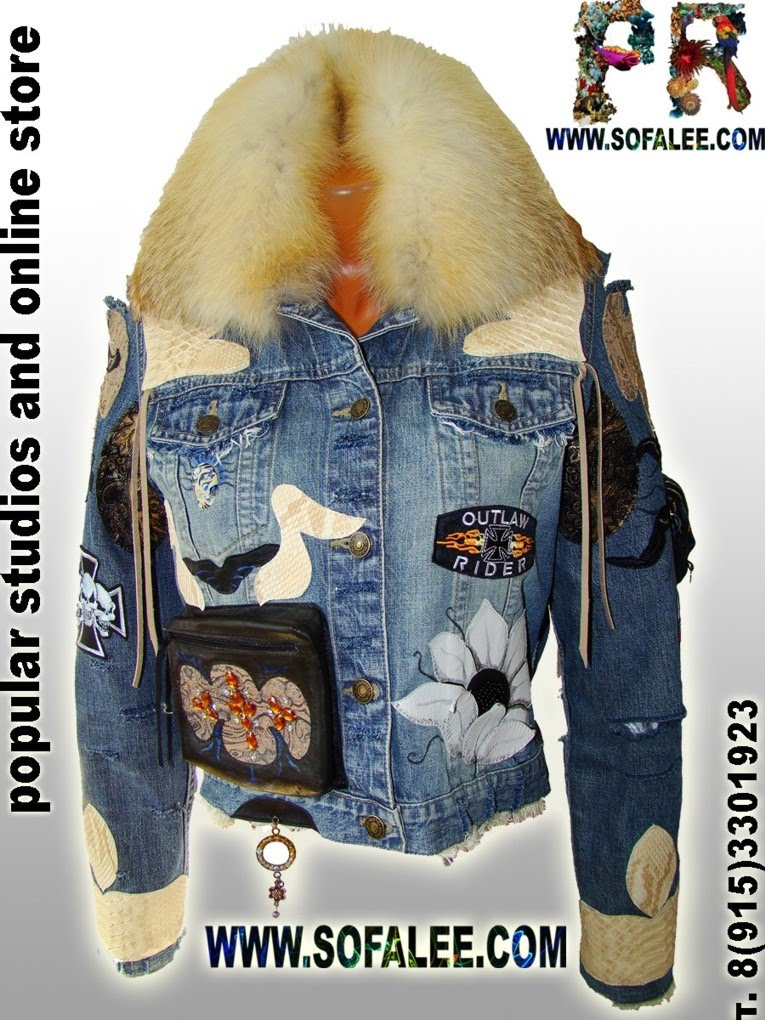 Modern denim jacket for ladies