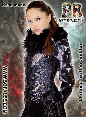 Beautiful leather jacket in the style of rock 'n' roll