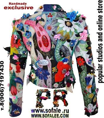 Дизайнерская короткая женская куртка из кожи фото 7