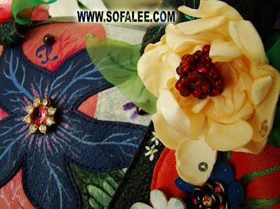 цветок на кожаной куртке ручная работа