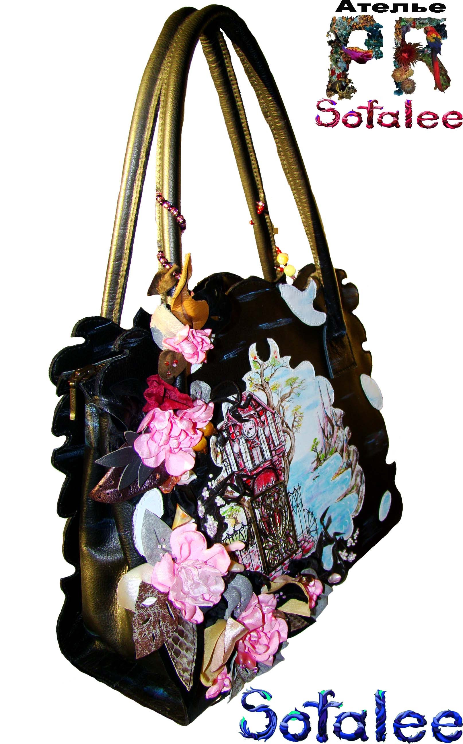 сумка с цветами женская купить в Москве