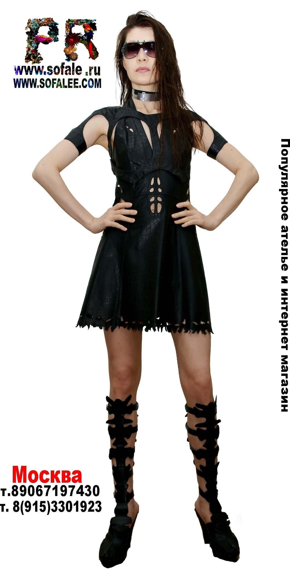 платье из натуральной кожи 2