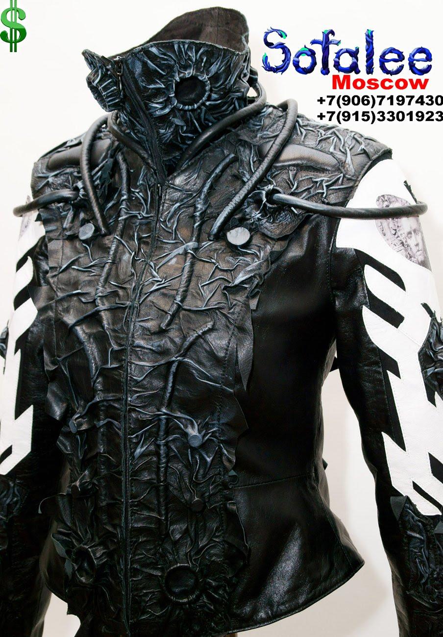 крутая кожаная куртка 001