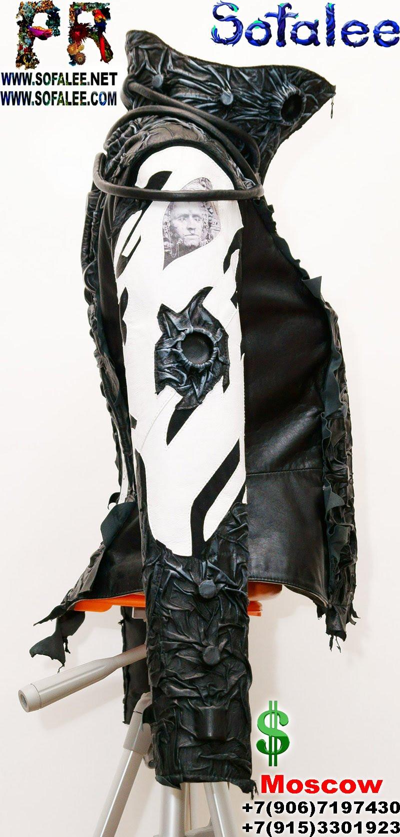 бок крутая кожаная куртка женская