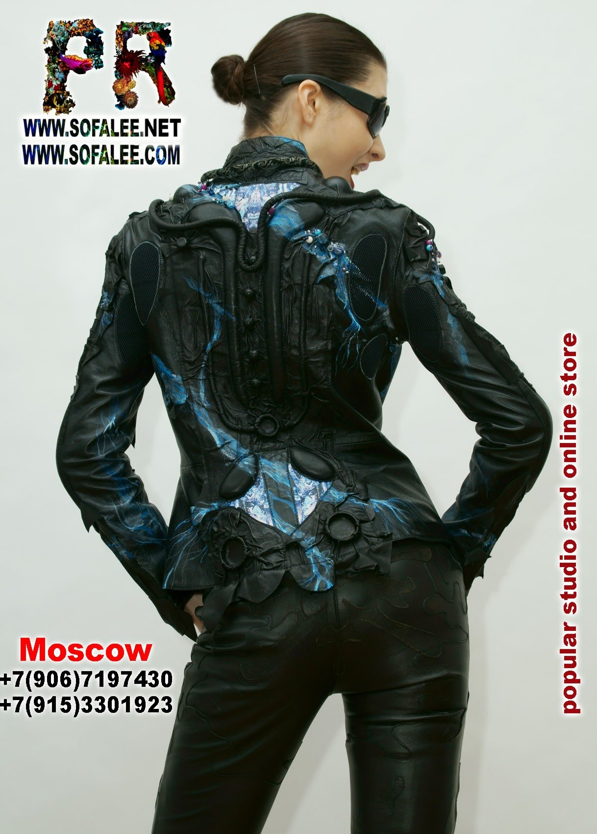 эксклюзивная кожаная женская куртка 1