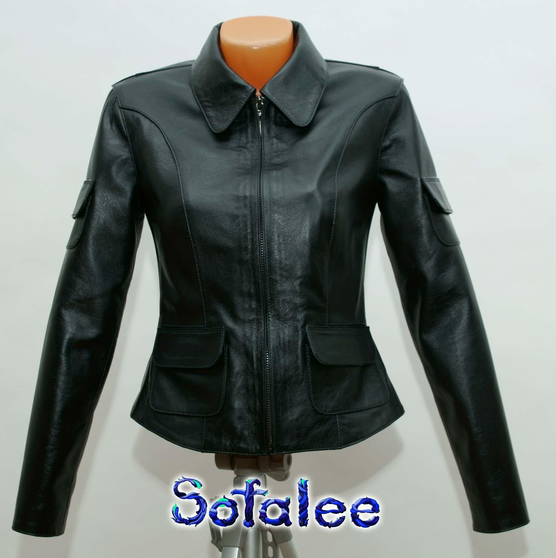 костюм классический кожаный женский 001