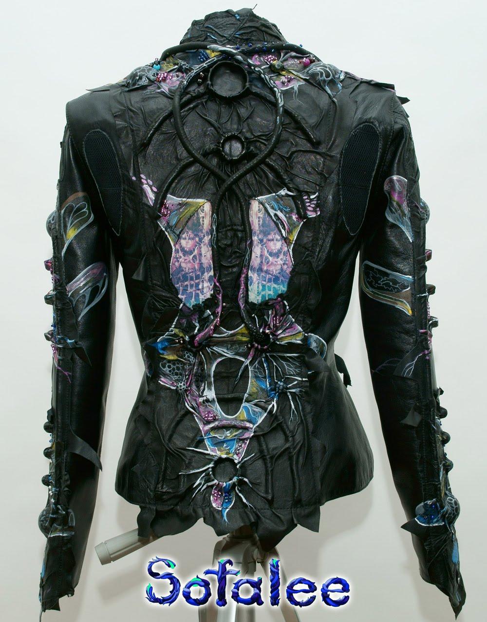 Куртка из кожи в стиле фэнтези 000