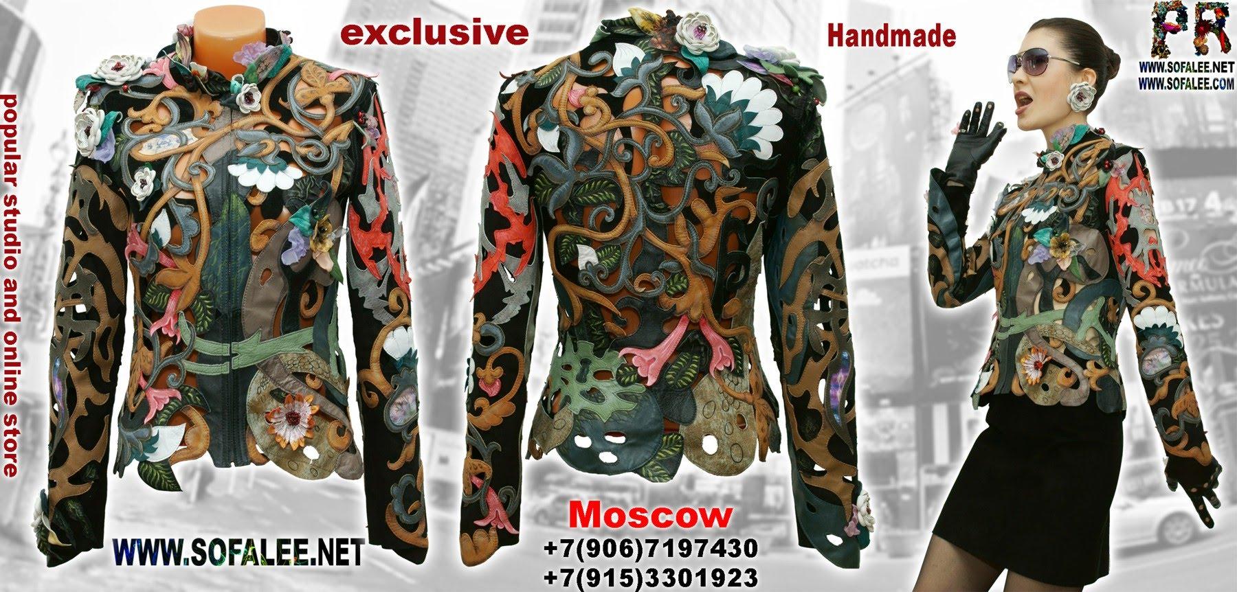 цветочная куртка из кожи с перфорацией 0000000