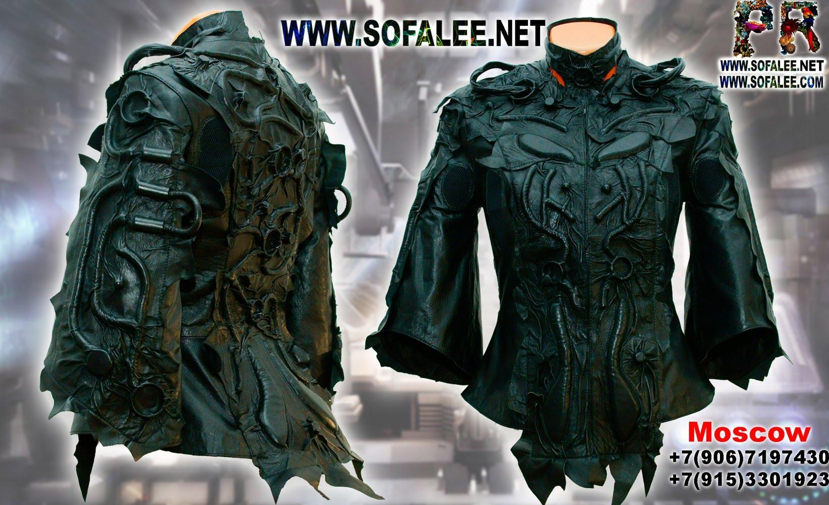 куртка кожаная черная 009