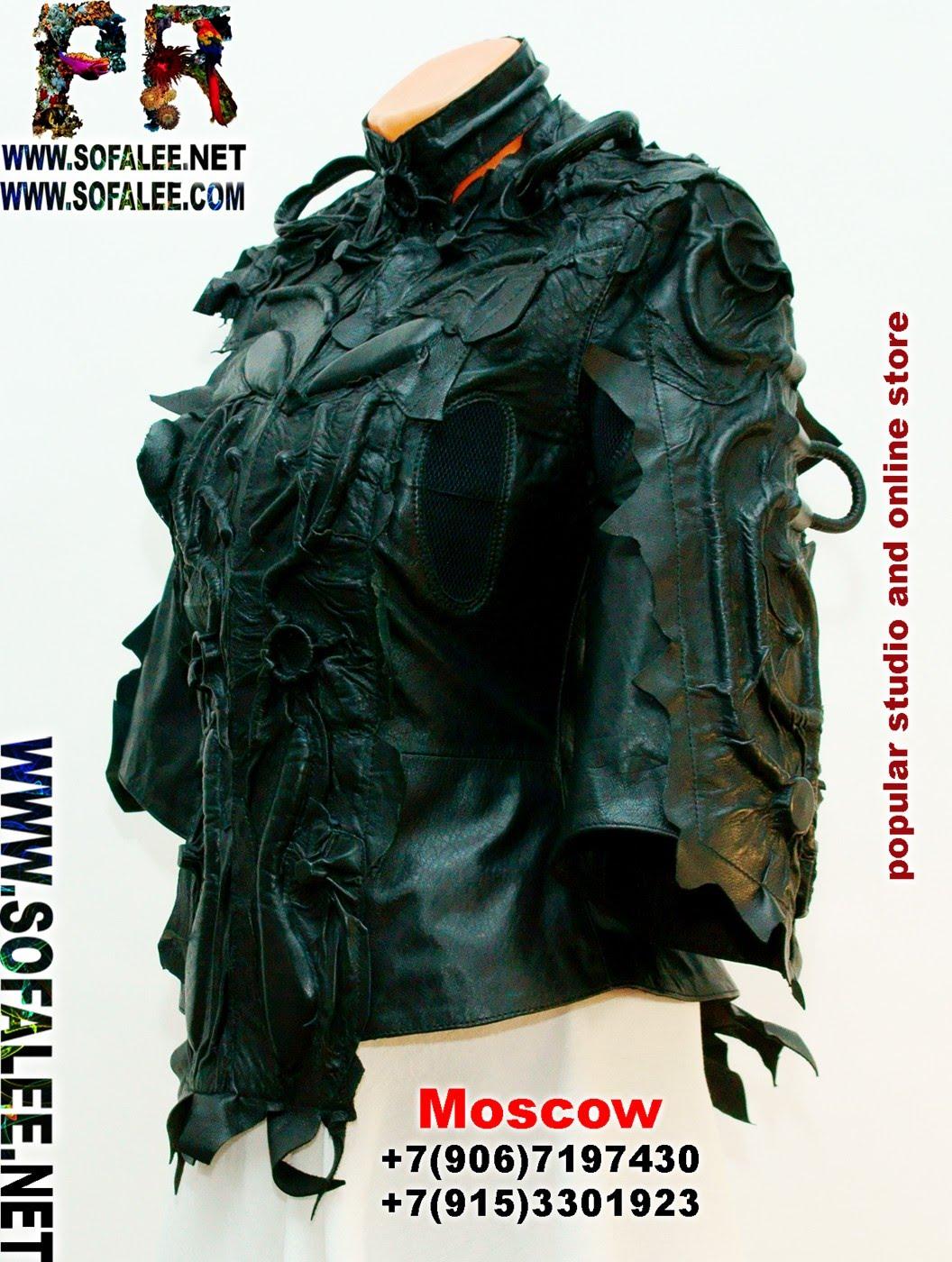 куртка кожаная черная 011