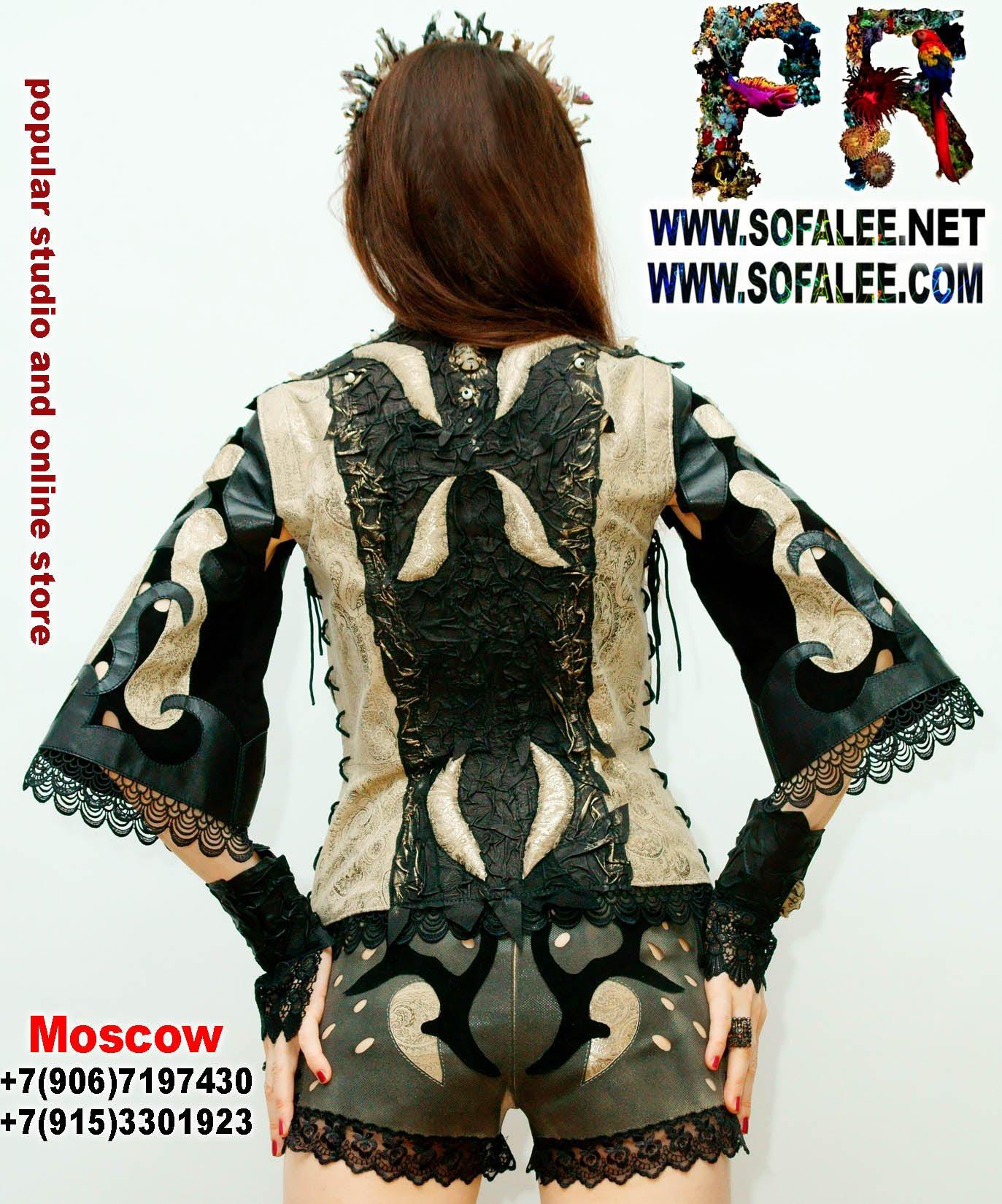 женская куртка жилетка кожаная 001
