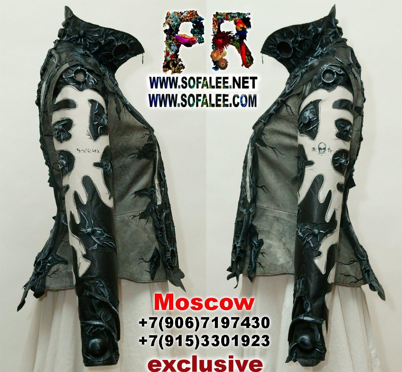 киберпанк черно белая кожаная куртка 0001