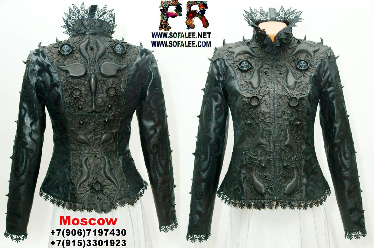куртка кожаная женская готическая 000