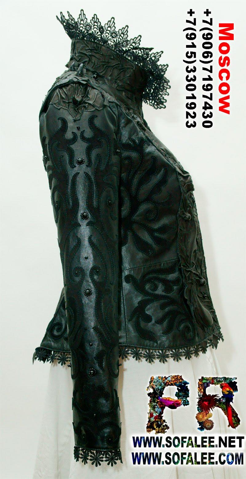 куртка кожаная женская готическая 0001