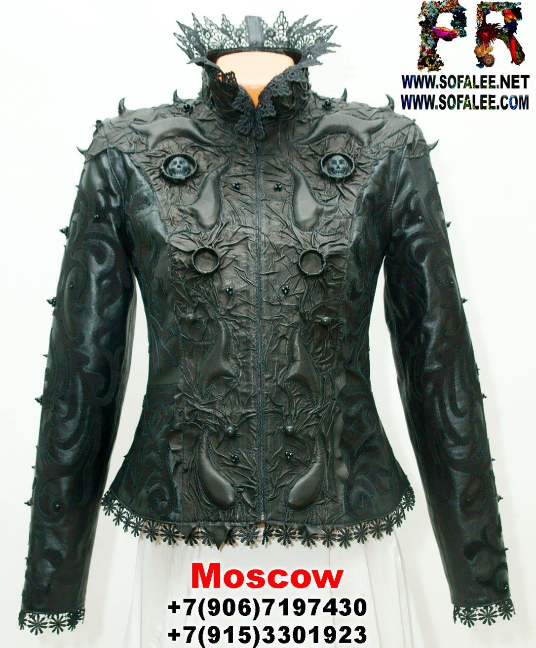 куртка кожаная женская готическая 0000