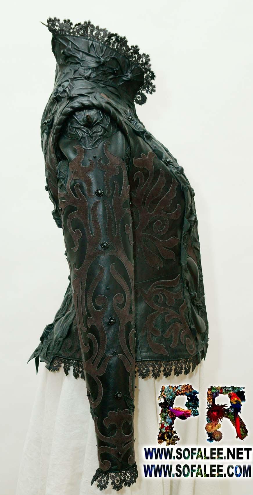 женская кожаная куртка 4