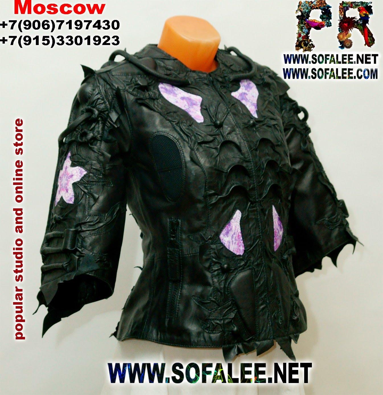 эксклюзивная кожаная куртка наручи воротник 002