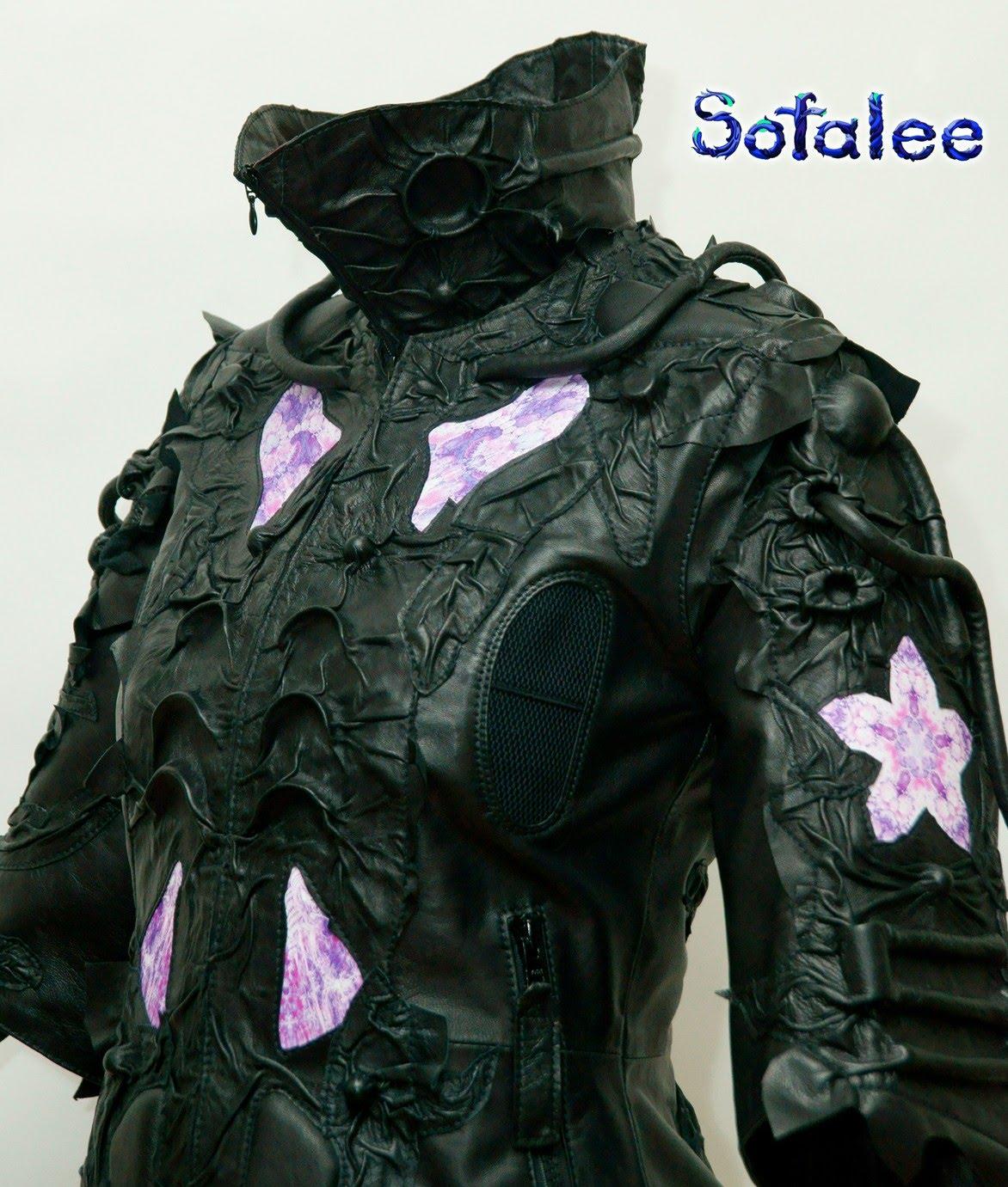 эксклюзивная кожаная куртка наручи воротник 001