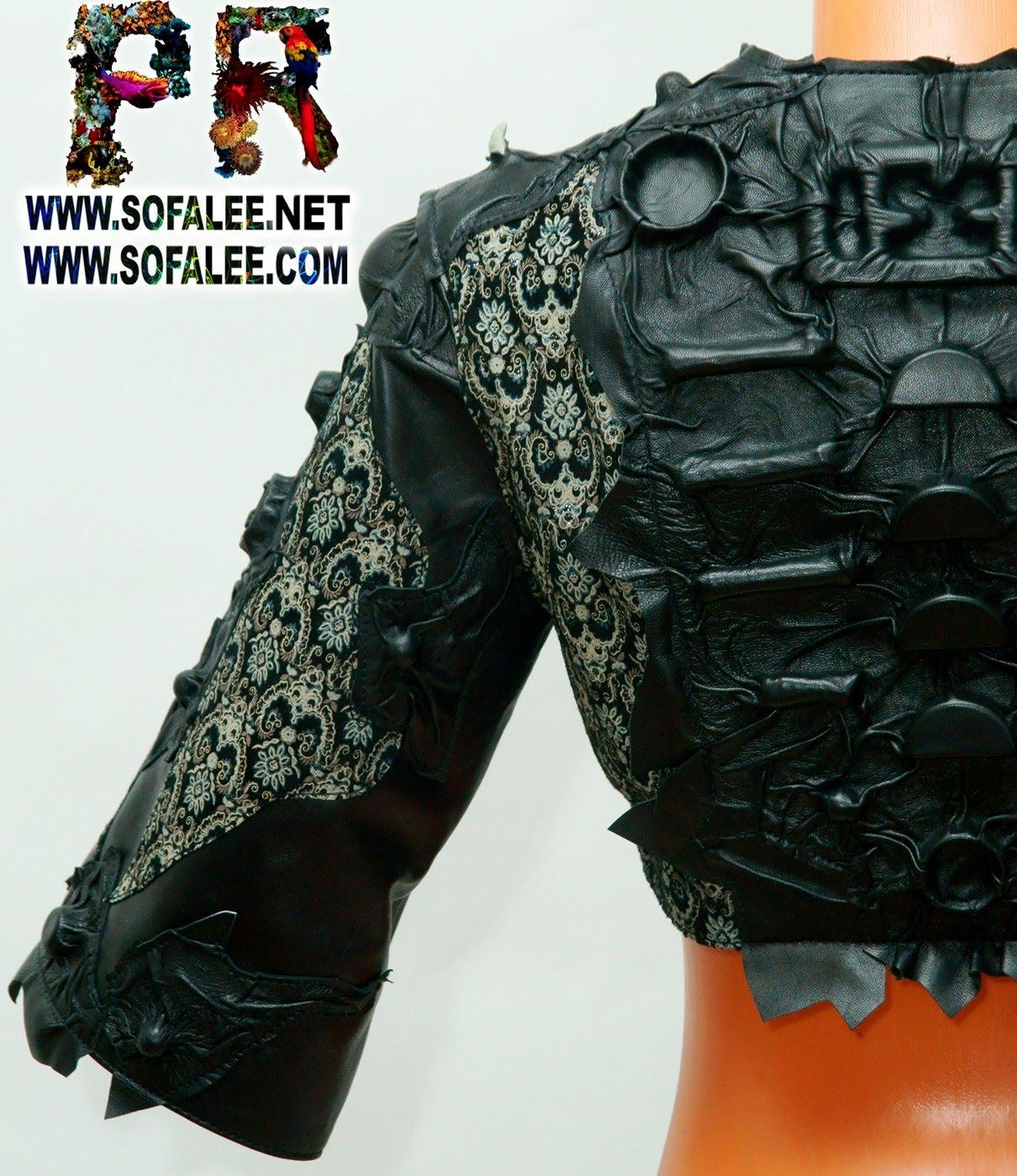 куртка болеро из натуральной кожи 04