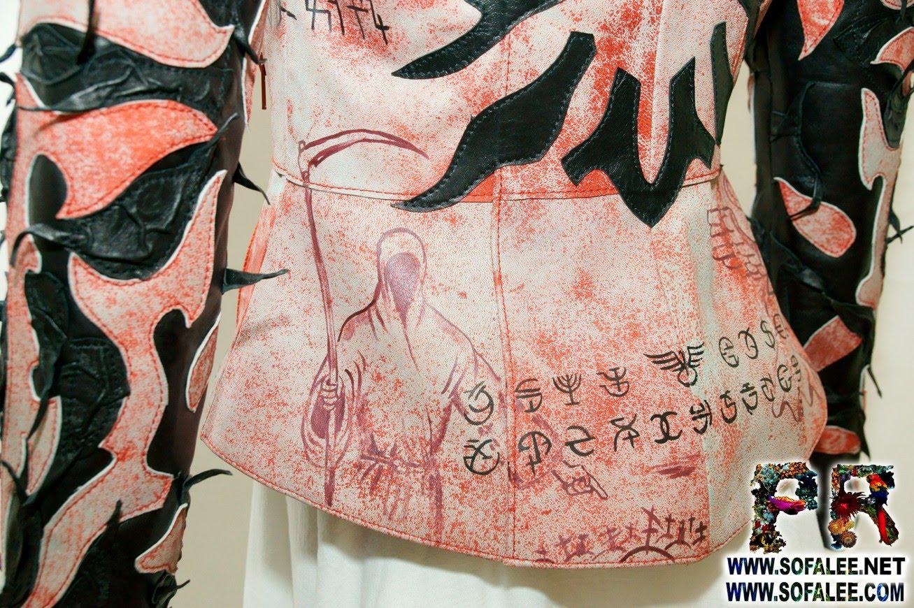 куртка женская из натуральной кожи в стиле панк 01