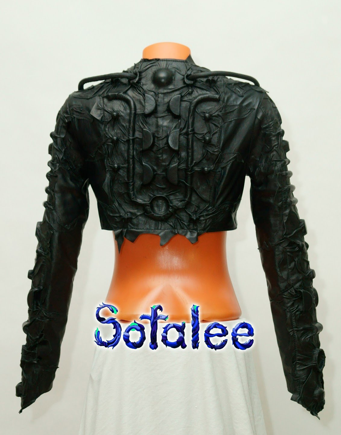 Bolero black genuine leather 0001