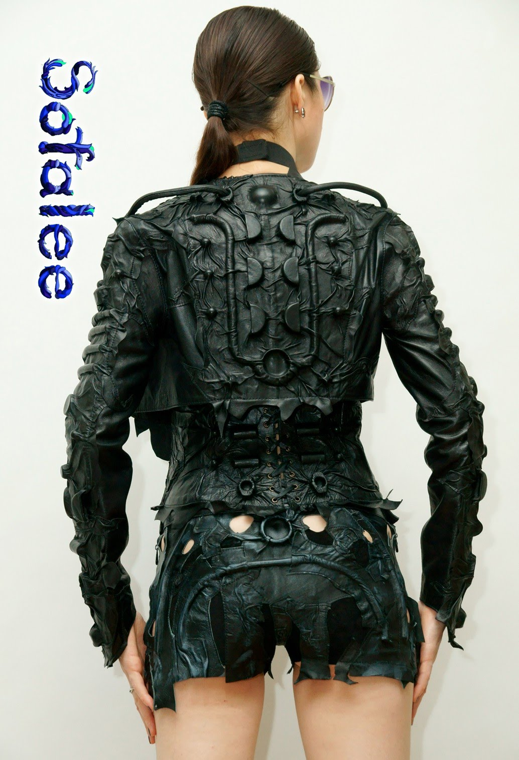 Bolero black genuine leather 0