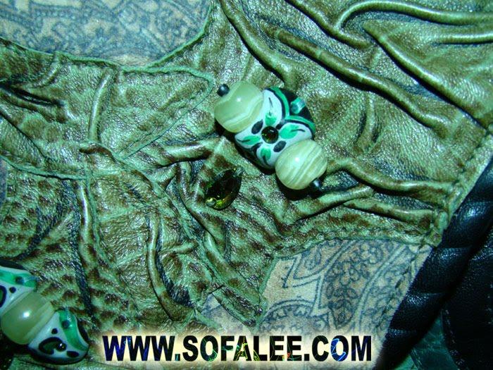 фрагмент куртки из натуральной кожи ателье PR