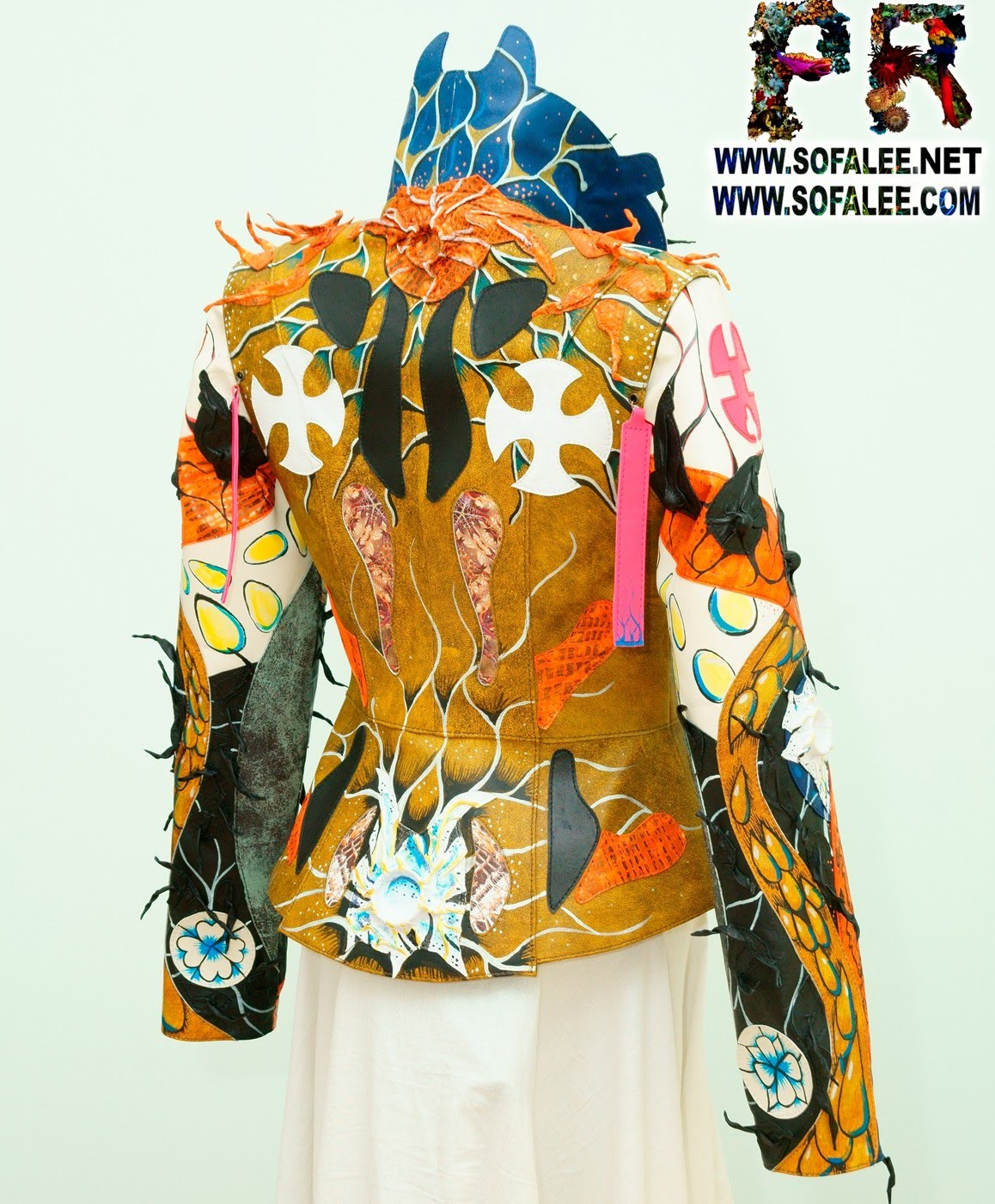 Multicolored womens genuine leather jacket by sofalee 000000