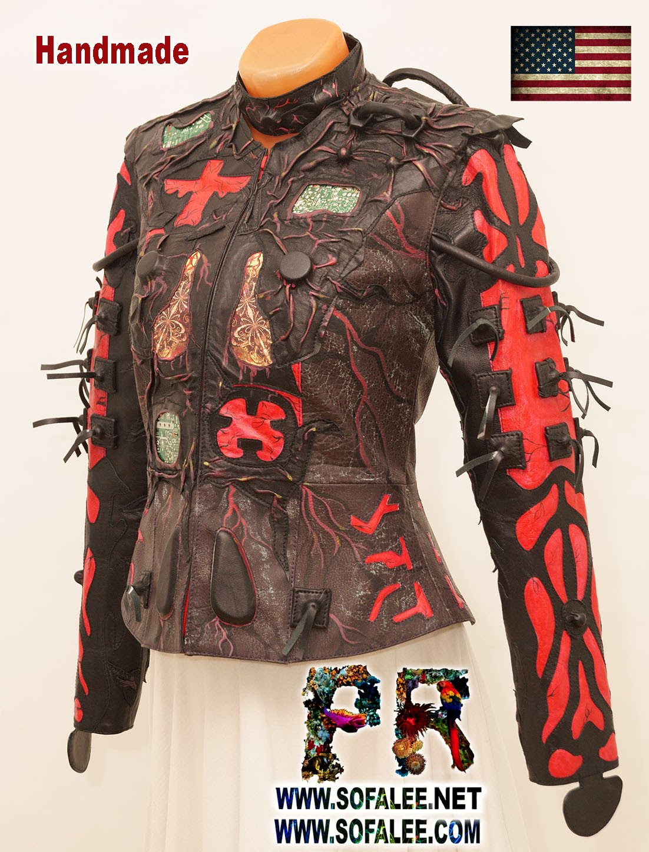 unique genuine leather jacket 001