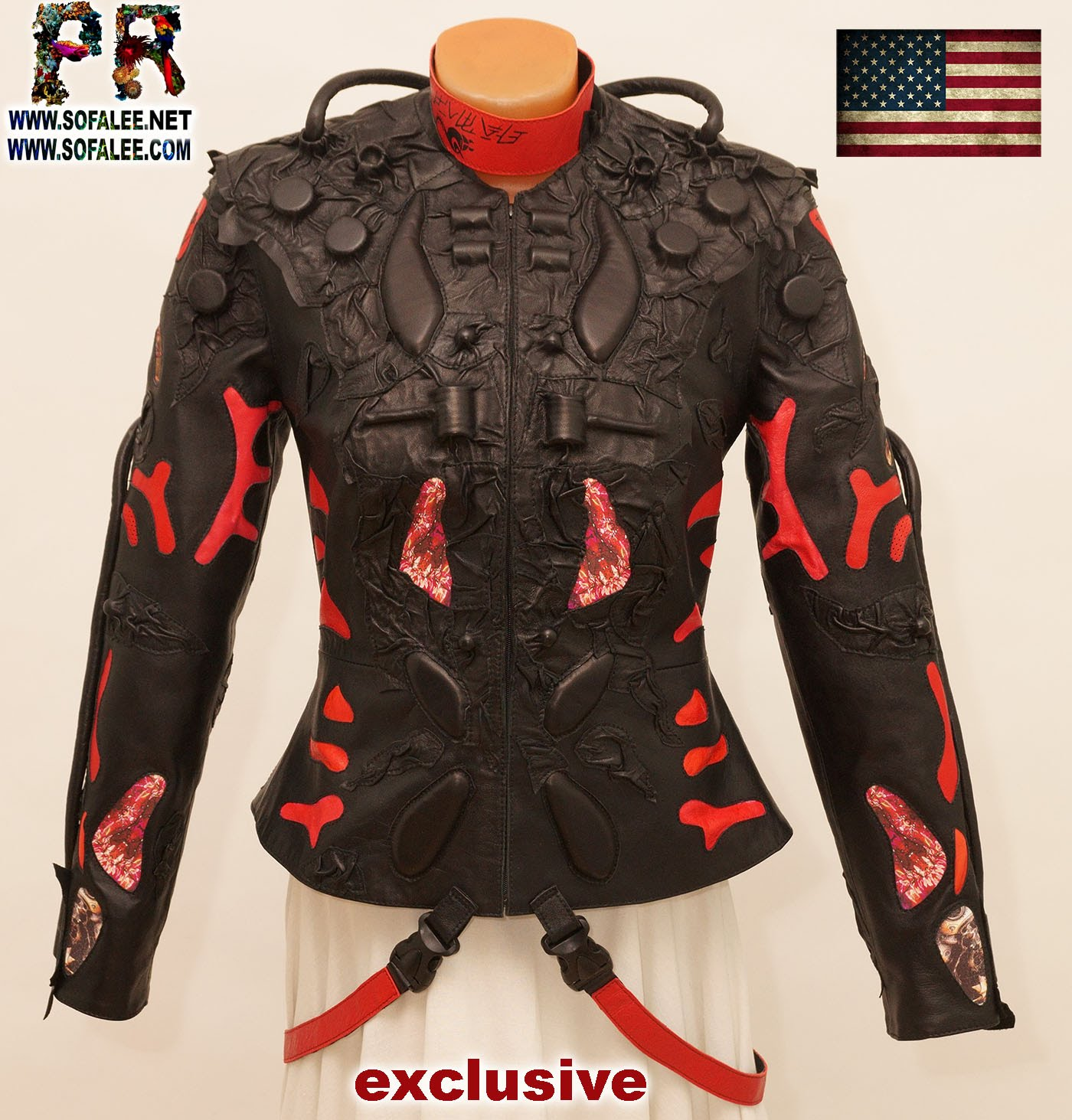 exclusive womens genuine leather jacket 000001
