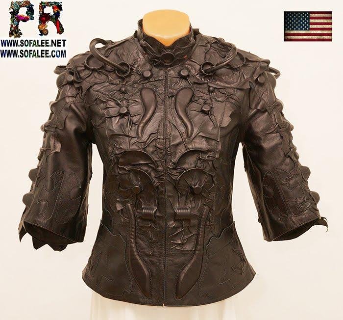 luxury women's jacket cyberpunk style 00