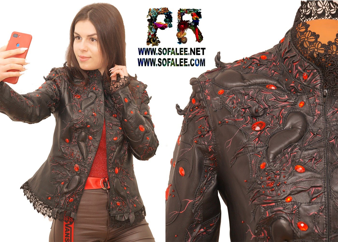 luxury womens leather jacket 0