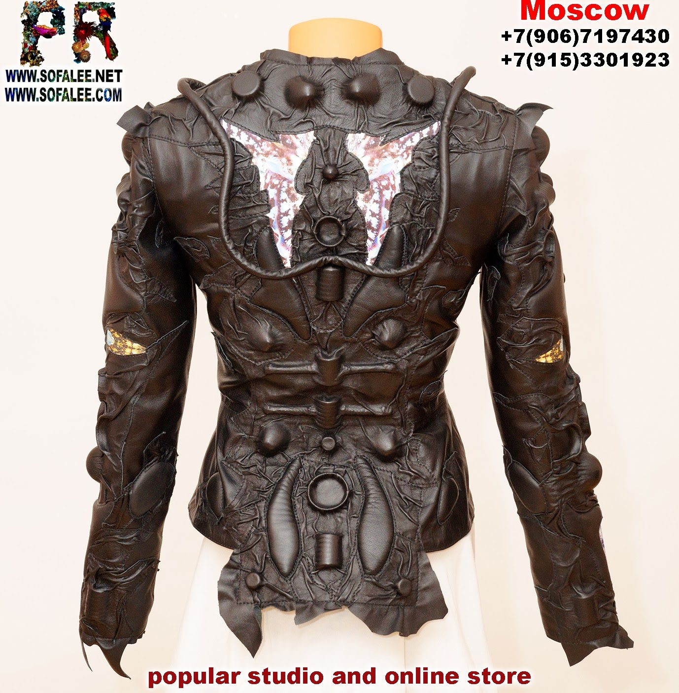 exclusive women's genuine leather jacket by sofalee 00011