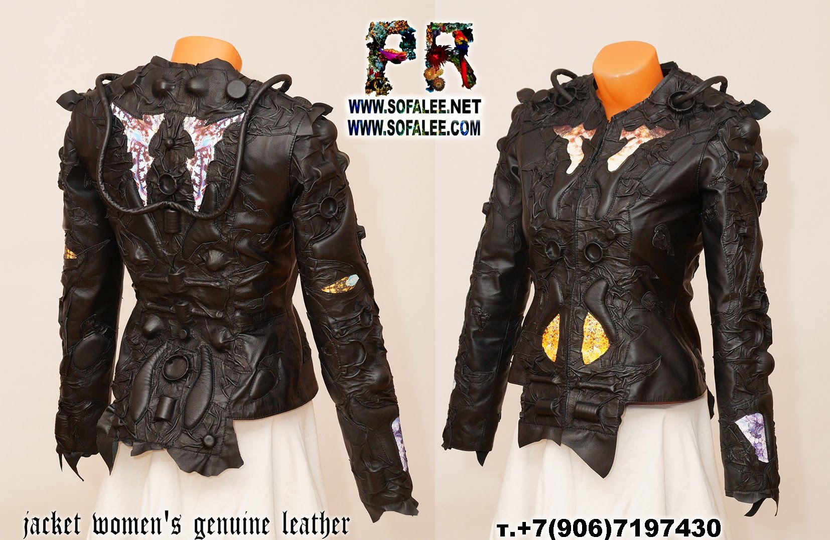 exclusive women's genuine leather jacket by sofalee 00000