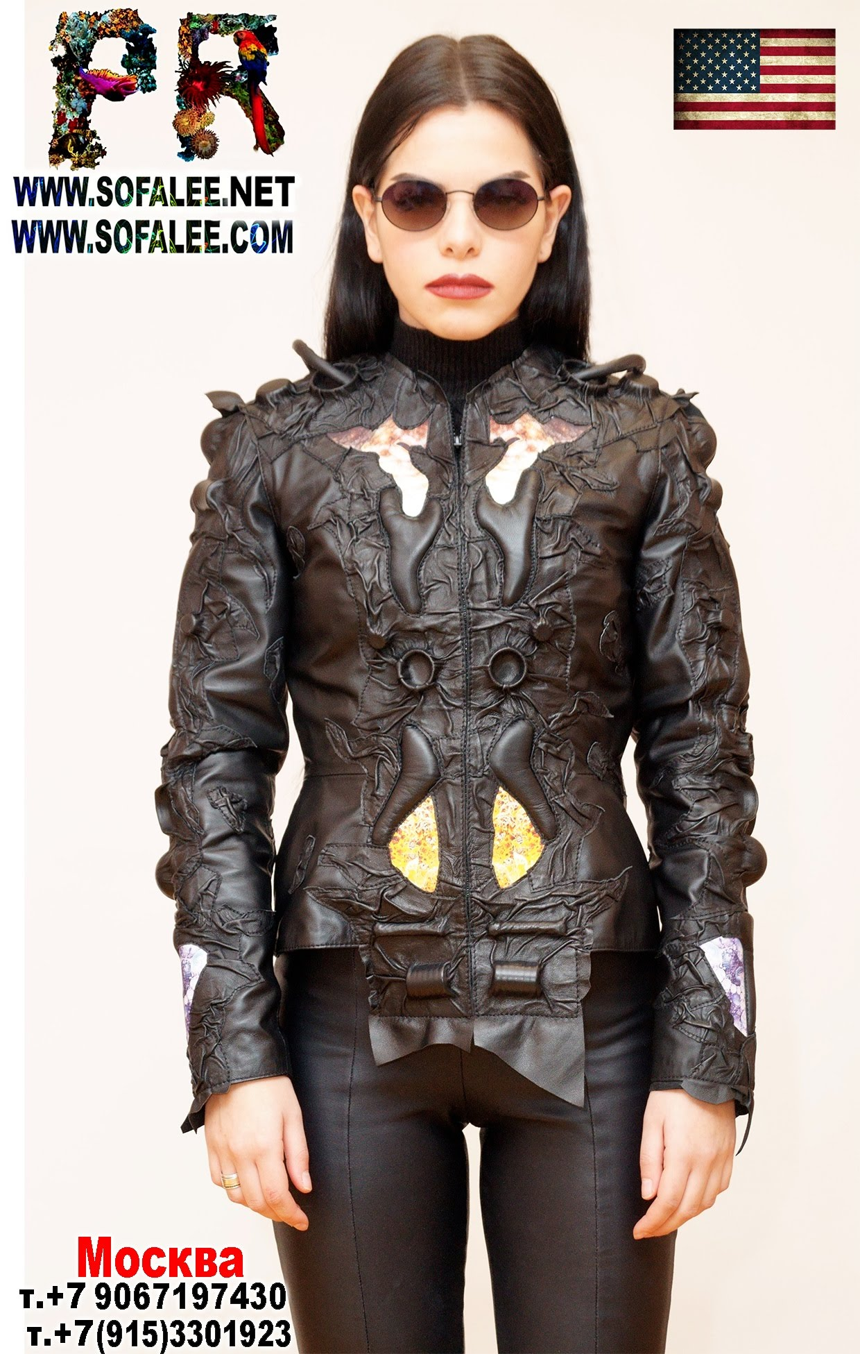 exclusive women's genuine leather jacket by sofalee 0