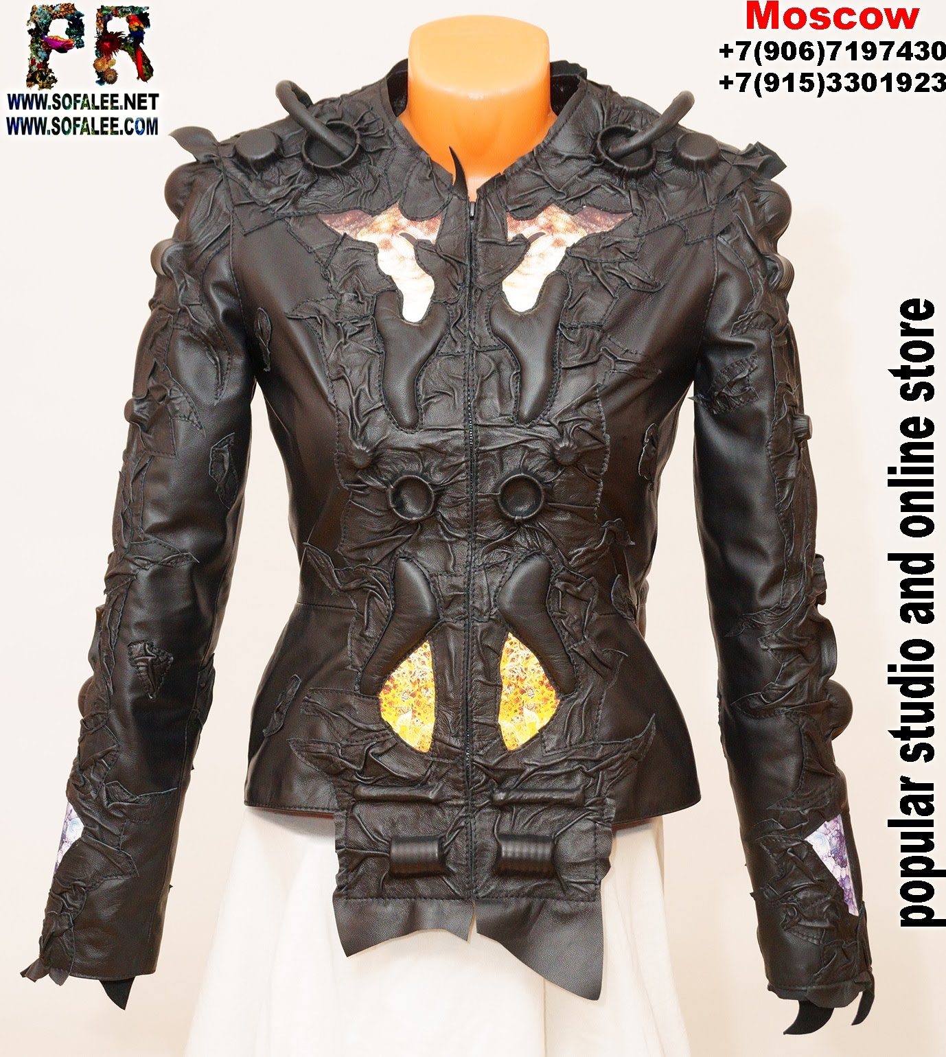exclusive women's genuine leather jacket by sofalee 00111