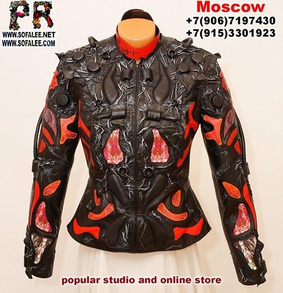 "№234 Luxury women's real lamb leather jacket ""Mirax-2020"""