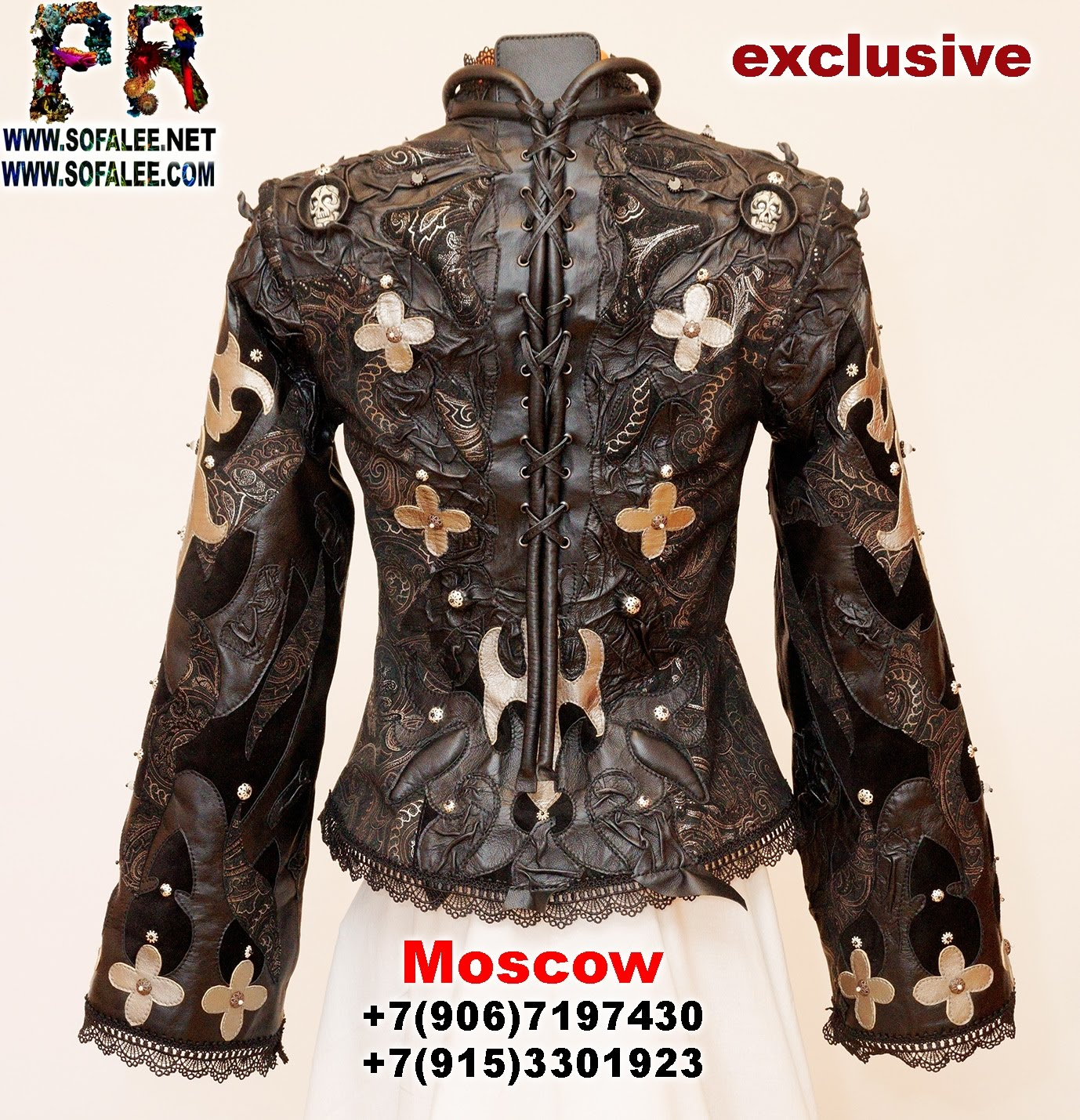 luxury ladies real leather jacket cape 0000011
