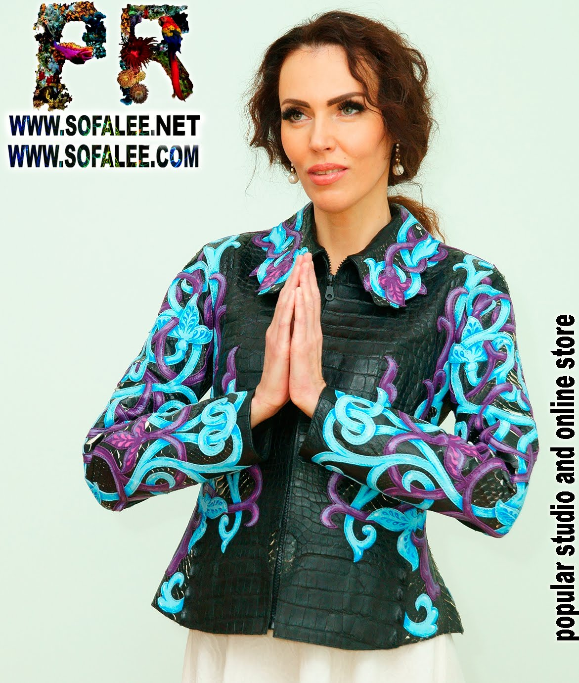 genuine leather crocodile python jacket handmade exclusive by sofalee