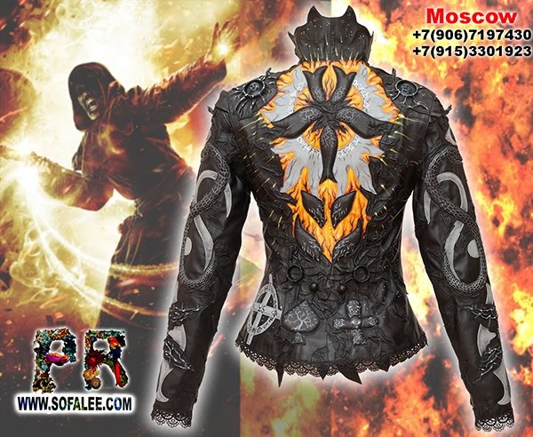"""№208 Black gray jacket for women exclusive handmade by Sofalee genuine leather -""""Cersei"""" mysticism black magic for the black heart!"""