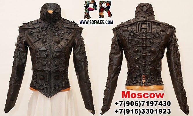 №240 Genuine black bolero, corset, collar cyberpunk.