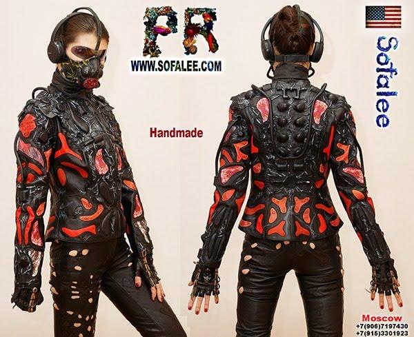 "№234 Luxury women's real lamb leather jacket ""Mirax-2021"""