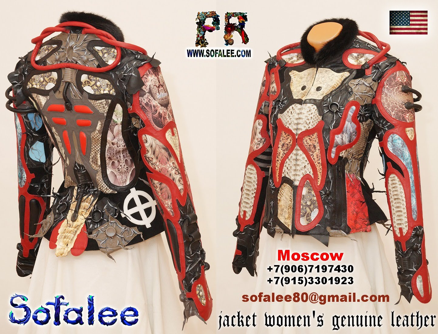 luxury women's crocodile python leather jacket 001